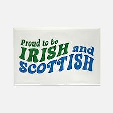 Proud to be Irish and Scottish Rectangle Magnet