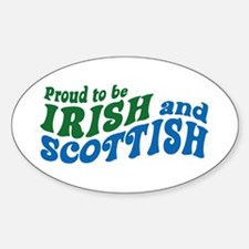 Proud to be Irish and Scottish Oval Decal
