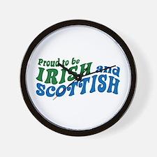Proud to be Irish and Scottish Wall Clock