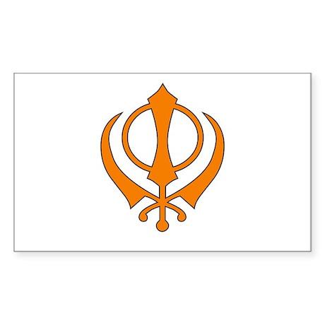 Khanda Rectangle Sticker
