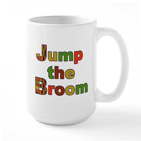 Kente Cloth Jump the Broom Large Mug