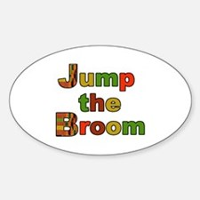 Kente Cloth Jump the Broom Oval Decal