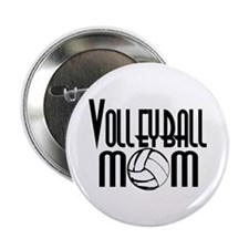 """Volleyball Mom 5 2.25"""" Button"""