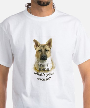 Jindo excuse White T-Shirt