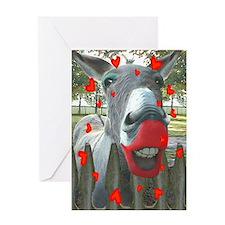 VALENTINE KISS Greeting Card