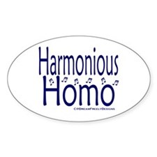 Harmonious Homo Oval Decal