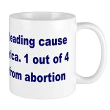 Abortion Leading Cause of Death Mug