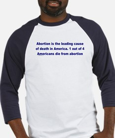 Abortion Leading Cause of Death Baseball Jersey