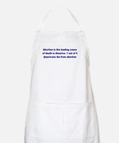 Abortion Leading Cause of Death BBQ Apron