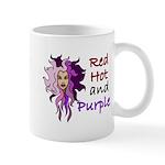 Red hot and purple Mug