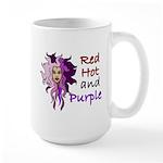 Red hot and purple Large Mug