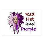 Red hot and purple Postcards (Package of 8)