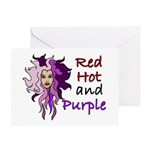 Red hot and purple Greeting Card