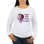 Red hot and purple Women's Long Sleeve T-Shirt