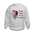 Red hot and purple Kids Sweatshirt