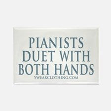 Pianists Both Hands Rectangle Magnet