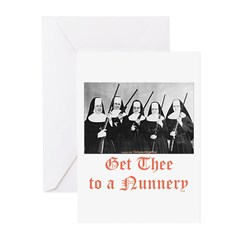 Get Thee to a Nunnery Greeting Cards (Pk of 10)