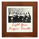 Light Your Candle Framed Tile