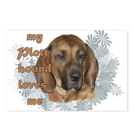 plott hound loves Postcards (Package of 8)