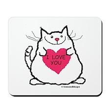 Kitty Valentine Mousepad