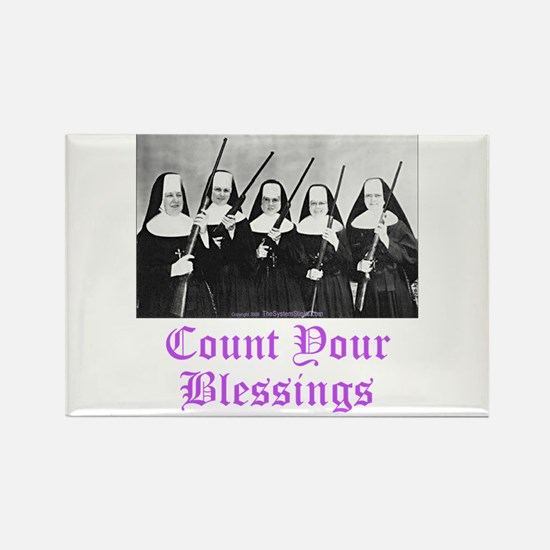 Count Your Blessings Rectangle Magnet