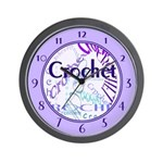 Crochet Purple Wall Clock