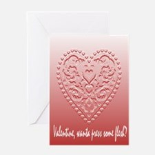 PRESS YOUR LIPS VALENTINE Greeting Card