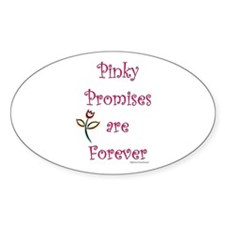 Pinky Promises Oval Decal