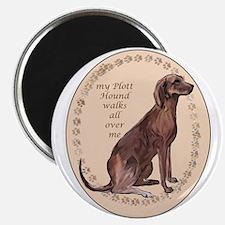 plott hound walks Magnet