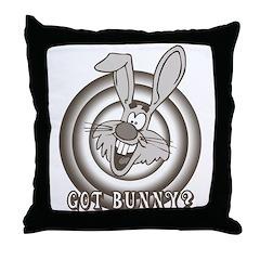 Retro Rabbit Throw Pillow