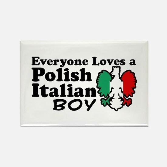 Polish Italian Boy Rectangle Magnet