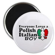 Polish Italian Boy Magnet