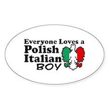 Polish Italian Boy Oval Decal