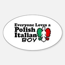 Polish Italian Boy Oval Decal