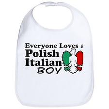 Polish Italian Boy Bib