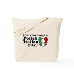 Polish Italian Girl Tote Bag