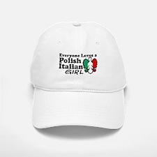 Polish Italian Girl Baseball Baseball Cap
