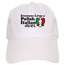 Polish Italian Girl Baseball Cap