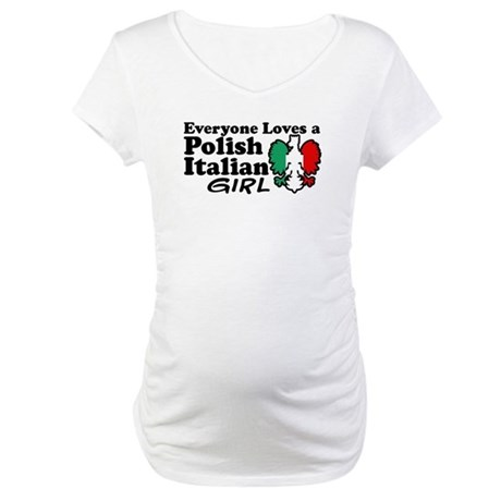 Polish Italian Girl Maternity T-Shirt