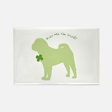 Shar Pei... Kiss Me I'm Irish! Rectangle Magnet (1