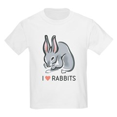 I Love Rabbits Kids T-Shirt