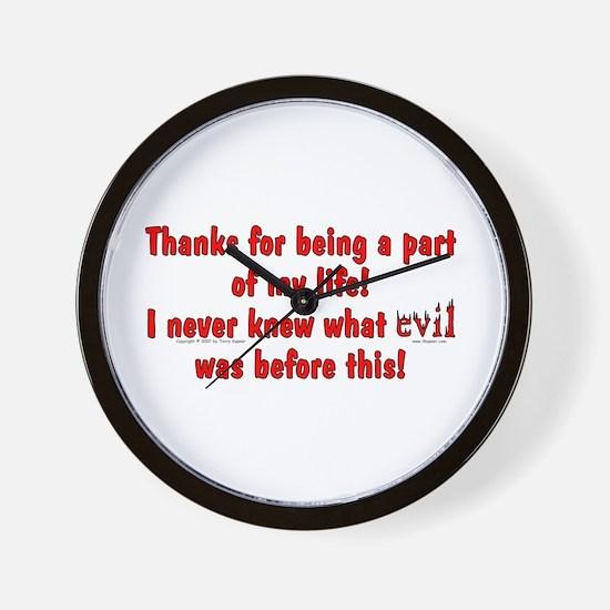 Evil Was! Wall Clock