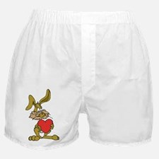 Rabbit With Heart Boxer Shorts