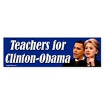 Teachers for Clinton-Obama Bumper Sticker