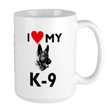 """Large """"Love My K-9) Mug"""