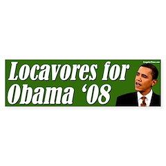 Locavores for Obama '08 bumper sticker