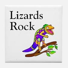 Lizards Rock Tile Coaster