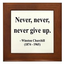 Winston Churchill 3 Framed Tile