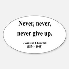 Winston Churchill 3 Oval Decal