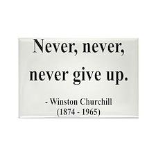 Winston Churchill 3 Rectangle Magnet